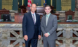 LHU Student John Gower Puts Education to Work through Internship with Senator Scarnati