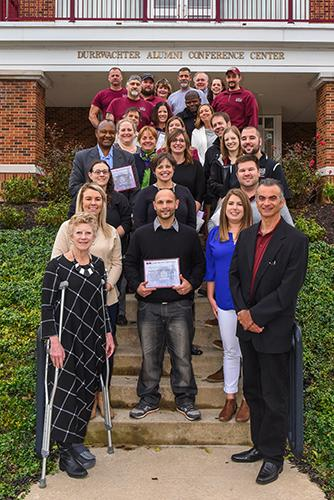LHU years of service recognition recipients.