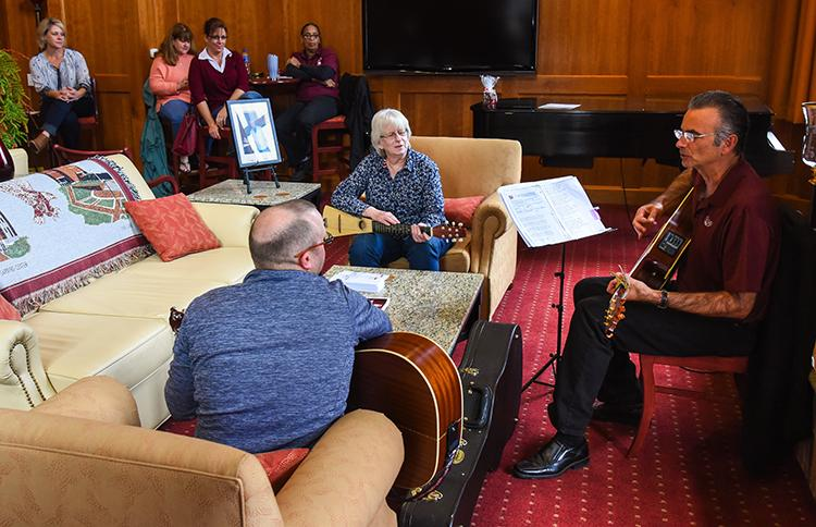 One of the events available for LHU employees to attend during the retreat was a sing-a-long with LHU President, Robert Pignatello.