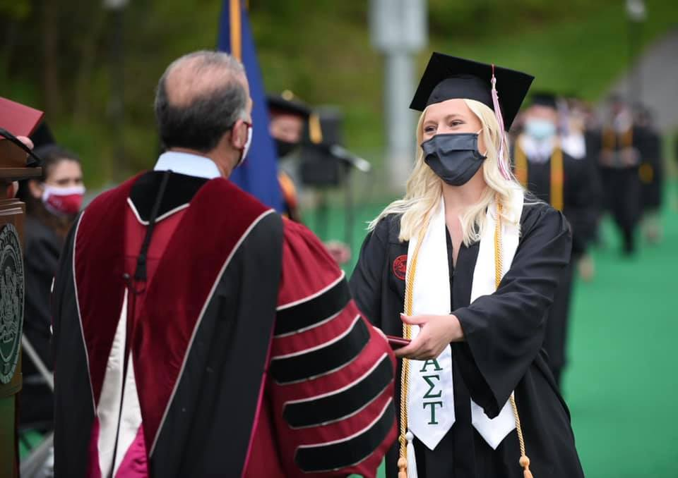 Lock Haven University recently celebrated the achievements of nearly 400 graduates during the 143rd spring commencement ceremonies.
