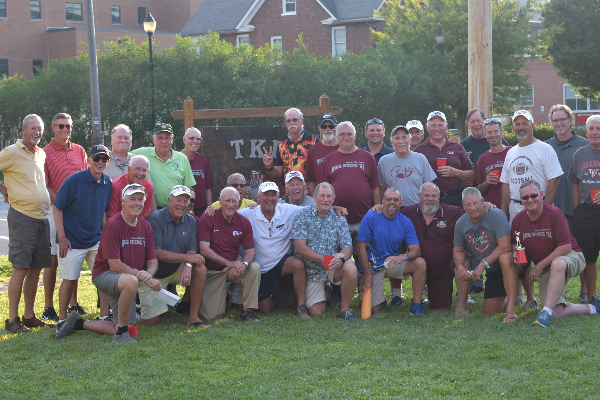 Nearly 40 Tau Kappa Epsilon (TKE) alumni who mostly graduated from Lock Haven State College in the 60s and 70s returned to The Haven from Aug. 3 to Aug. 6 for the Dick Weede Memorial Golf Tournament.