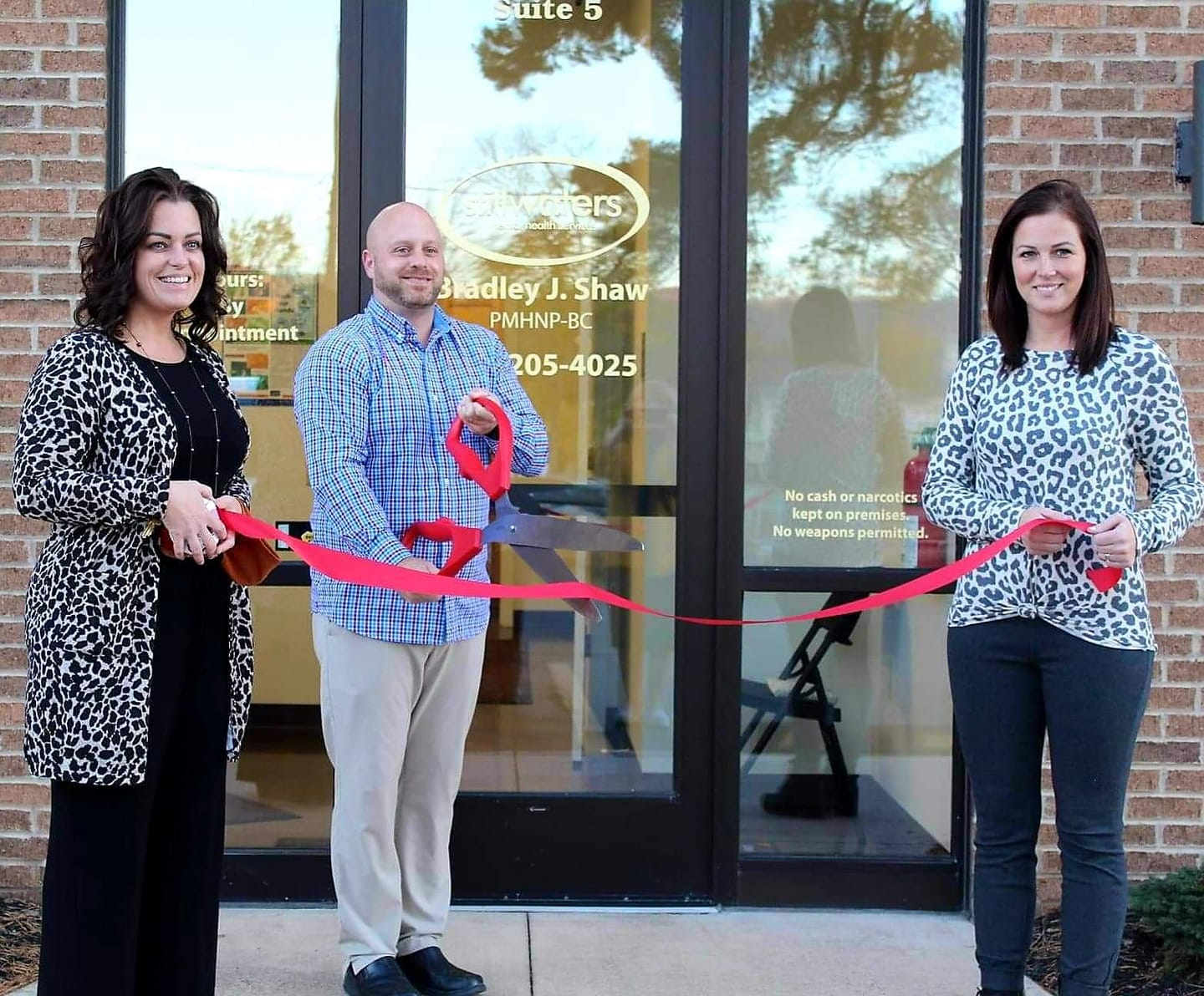 Bradley Shaw ribbon cutting
